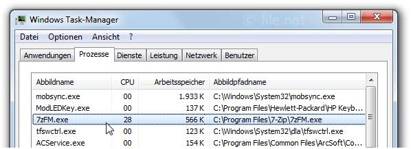 7zFM.exe Windows Prozess - Was ist das?