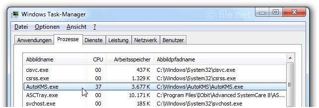 AutoKMS exe Windows Prozess - Was ist das?