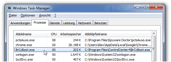 Windows Task-Manager mit BrCcBoot