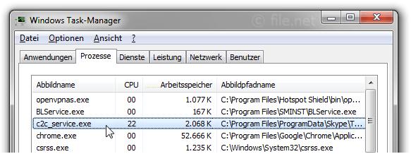 c2c_service.exe Windows Prozess - Was ist das?