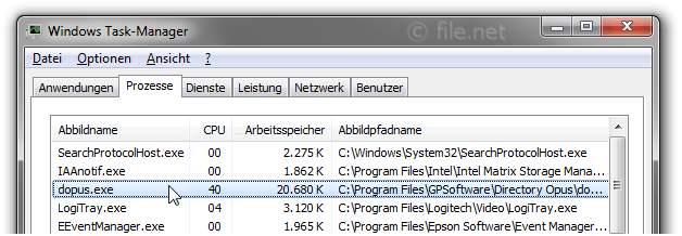Windows Task-Manager mit dopus