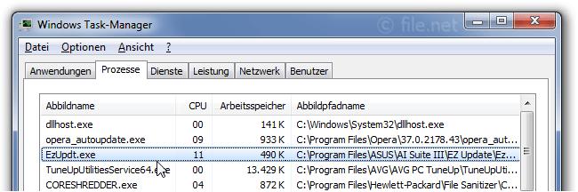 EzUpdt exe Windows Prozess - Was ist das?
