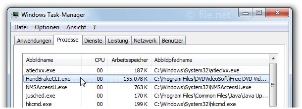 HandBrakeCLI exe Windows Prozess - Was ist das?