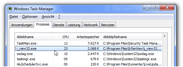 Windows Task-Manager mit i_view32