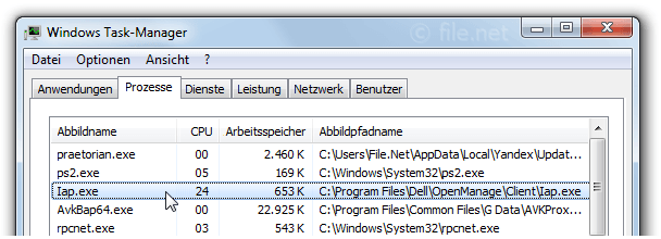 Windows Task-Manager mit Iap