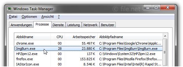 ImgBurn exe Windows Prozess - Was ist das?