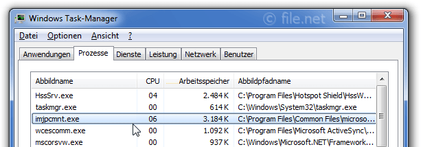 Windows Task-Manager mit imjpcmnt