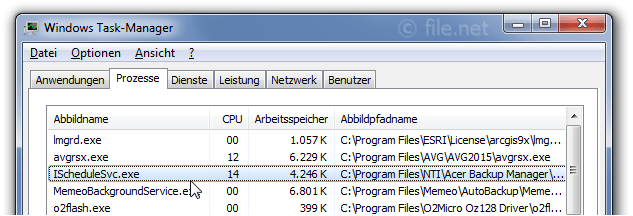 Windows Task-Manager mit IScheduleSvc