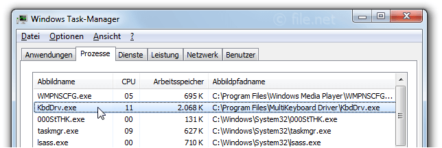 Windows Task-Manager mit KbdDrv