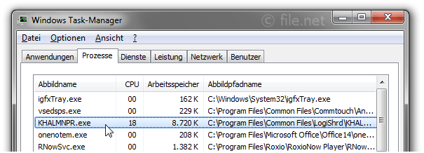 Windows Task-Manager mit KHALMNPR