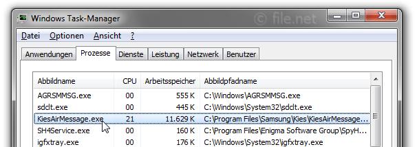 KiesAirMessage exe Windows Prozess - Was ist das?