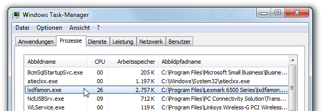 Windows Task-Manager mit lxdfamon