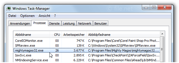Windows Task-Manager mit mightymagoo32