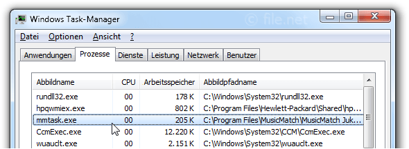 Windows Task-Manager mit mmtask