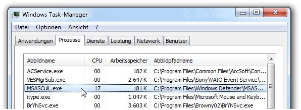MSASCuiL.exe Windows Prozess - Was ist das?