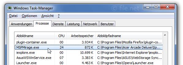 MSPMirage.exe Windows Prozess - Was ist das?