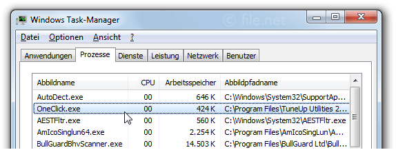 Windows Task-Manager mit OneClick