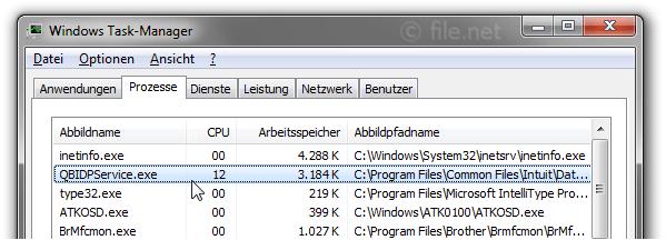 QBIDPService.exe Windows Prozess - Was ist das?
