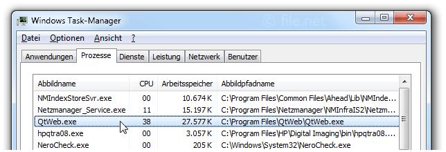 QtWeb exe Windows Prozess - Was ist das?