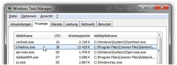 Windows Task-Manager mit s7oiehsx