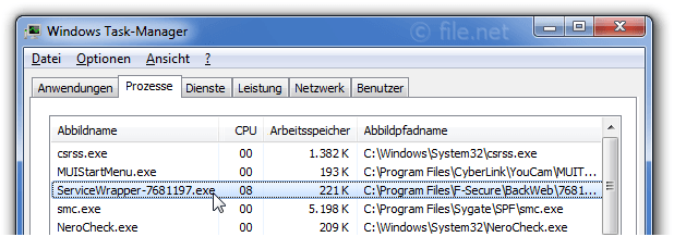 Windows Task-Manager mit ServiceWrapper-7681197