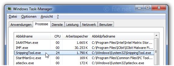 SnippingTool exe Windows Prozess - Was ist das?