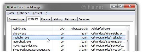 Windows Task-Manager mit TaskKiller