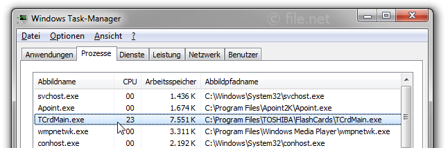 Windows Task-Manager mit TCrdMain