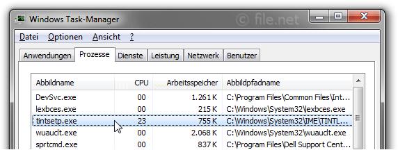 tintsetp.exe Windows Prozess - Was ist das?