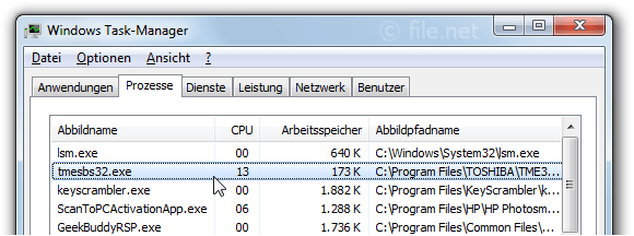 Windows Task-Manager mit Tmesbs32