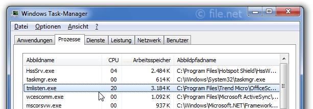 tmlisten.exe Windows Prozess - Was ist das?