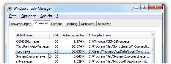 torch.exe Windows Prozess - Was ist das?