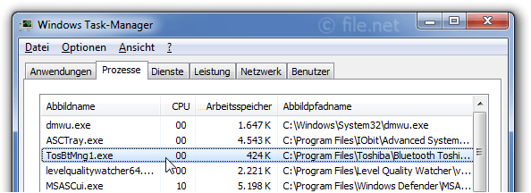 Windows Task-Manager mit TosBtMng1