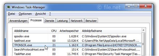 TPONSCR.exe Windows Prozess - Was ist das?