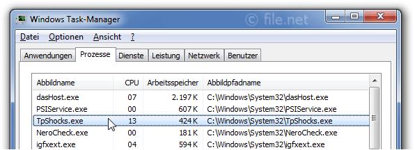 TpShocks.exe Windows Prozess - Was ist das?