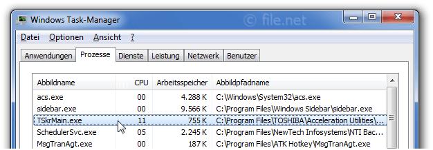 TSkrMain.exe Windows Prozess - Was ist das?