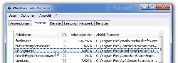 uiSeAgnt exe Windows Prozess - Was ist das?