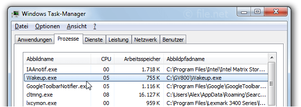 Wakeup.exe Windows Prozess - Was ist das?