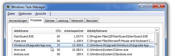 Windows10UpgraderApp.exe Windows Prozess - Was ist das?