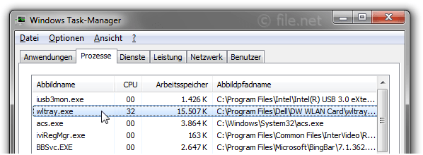 Windows Task-Manager mit wltray