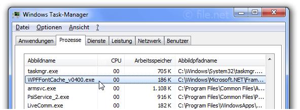 WPFFontCache_v0400.exe Windows Prozess - Was ist das?