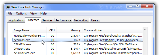 Windows Task Manager with 4ebrmon
