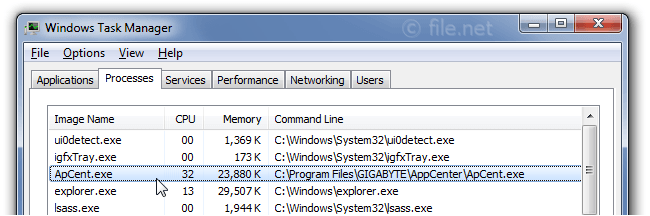 ApCent exe Windows process - What is it?