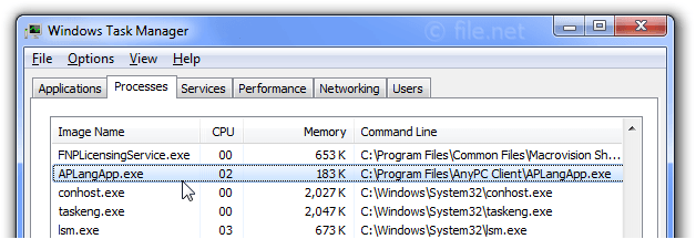 Windows Task Manager with APLangApp