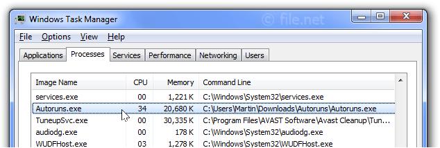 Autoruns exe Windows process - What is it?