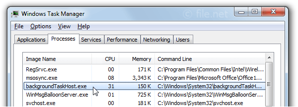 backgroundTaskHost.exe Windows process - What is it?