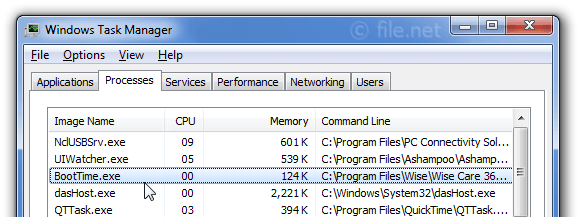 BootTime.exe Windows process - What is it?
