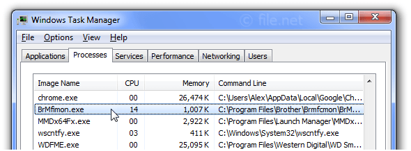 Windows Task Manager with BrMfimon