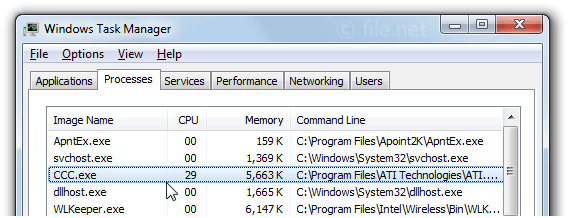 Windows Task Manager with CCC