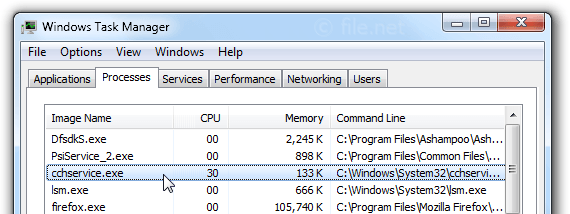Windows Task Manager with cchservice